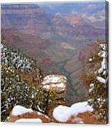 Snow On The Grand Canyon Canvas Print