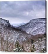 Snow On The Mesa Canvas Print