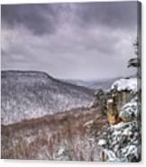 Snow On The Plateau Canvas Print