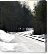Snow On Tracks Canvas Print