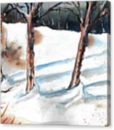 Snow Orchard Canvas Print