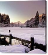 Snow Over Loch Ard Canvas Print