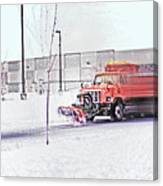 Snow Plow In Business Park 1 Canvas Print