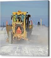 Snow Plowing Canvas Print