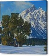 Snow Plume-cathedral Group Canvas Print