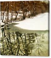 Snow Pond Canvas Print