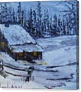 Snow Portrait Canvas Print
