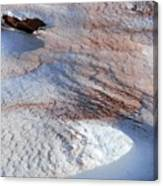 Snow Sand And Rocks Canvas Print