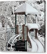 Snow Slide Canvas Print