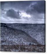 Snow Storm In The Mountains Canvas Print