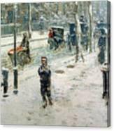 Snow Storm On Fifth Avenue Canvas Print