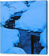 Snow Stream Canvas Print