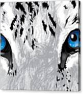 Snow Tiger's Soul In Blue Canvas Print
