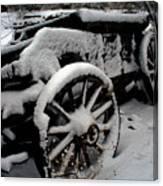 Snow Wagon Canvas Print