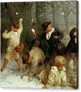 Snowballing Canvas Print