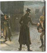 Snowballing The Watchmen Canvas Print