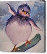 Snowboard Bird Canvas Print