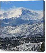 Snowcovered Pikes Peak Canvas Print