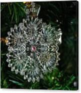 Snowcrystal Ornament 2016 Canvas Print