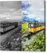 Snowdon Train Canvas Print