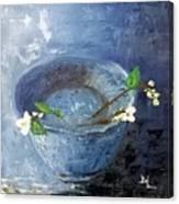 Snowdrops Bowl Canvas Print
