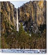 Snowfall Bridalveil Falls Canvas Print