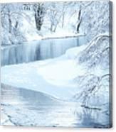 Snowfall On Gauley Canvas Print