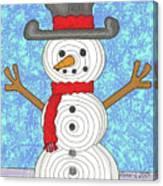 Snowman 2015 Canvas Print