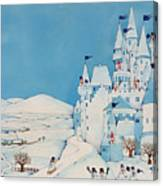 Snowman Castle Canvas Print
