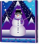 Snowman Juggler Canvas Print