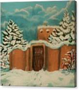 Snowstorm In Santa Fe Canvas Print