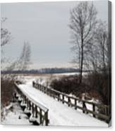 Snowy Bridge Canvas Print