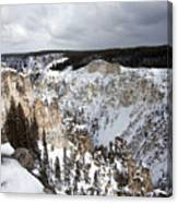 Snowy Canyon Canvas Print