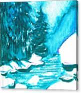 Snowy Creek Banks Canvas Print