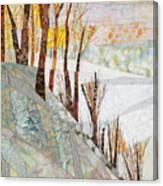 Snowy Dawn Canvas Print