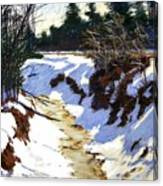 Snowy Ditch Canvas Print