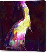 Snowy Egret Waterfowl Bird Large  Canvas Print