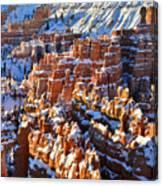 Snowy Hoodoos Canvas Print