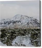 Snowy Lava Fields Iceland Canvas Print
