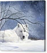 Snowy Canvas Print