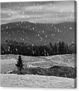 Snowy Mountain Farm Canvas Print