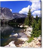 Snowy Mountain Lake Canvas Print