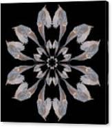 Snowy Owl Snowflake Canvas Print