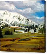 Snowy Peaks Canvas Print