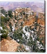 Snowy Pillar 2 - Grand Canyon Canvas Print