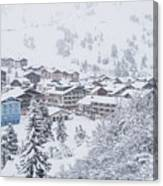 Snowy Resorts Canvas Print