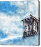Snowy Rooftop  Canvas Print
