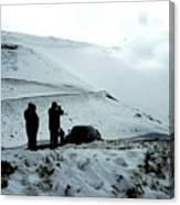 Snowy Switchbacks On Pikes Peak Canvas Print