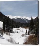 Snowy Valley Canvas Print