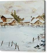 Snowy Village Canvas Print